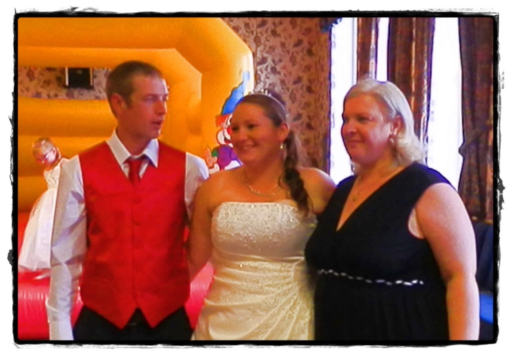 Me with my little brother and his new wife