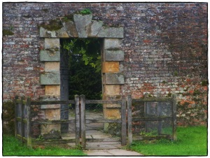 One of the entrances to the walled gardens