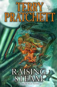 The_front_cover_of_the_book_Raising_Steam_by_Terry_Pratchett