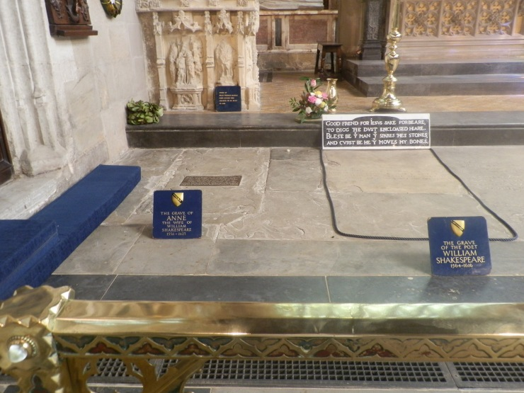 The graves of The Bard and his wife